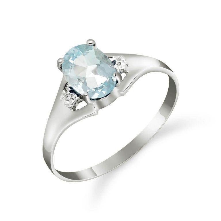 Aquamarine & Diamond Desire Ring in 9ct White Gold