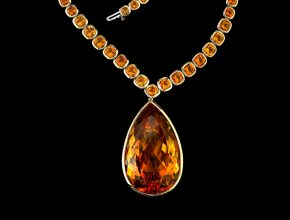 The 'Jolie Citrine Necklace'