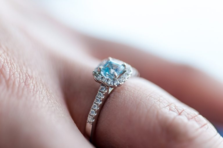 coloured gemstone ring