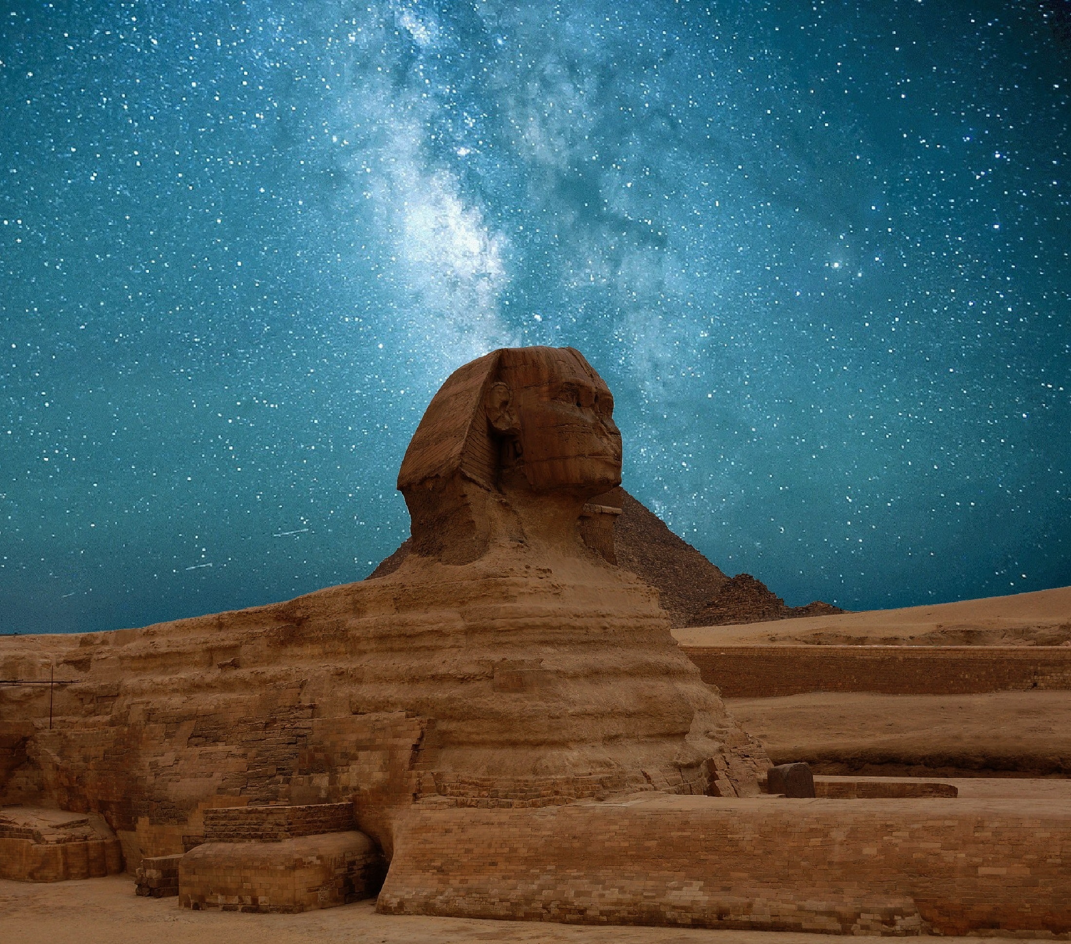 Ancient Egypt at night
