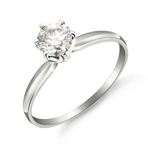 Diamond Crown Solitaire Ring 0.5 ct in 9ct White Gold