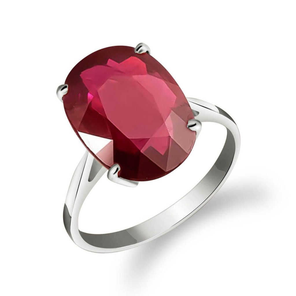 Ruby Valiant Ring 7.5 ct in 9ct White Gold