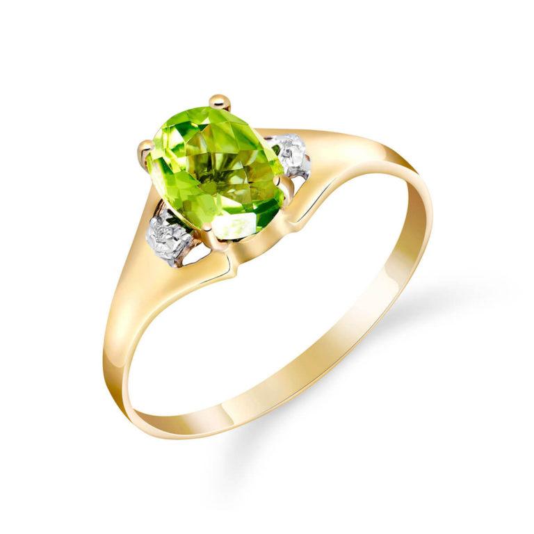 Peridot and Diamond Desire Ring in Gold