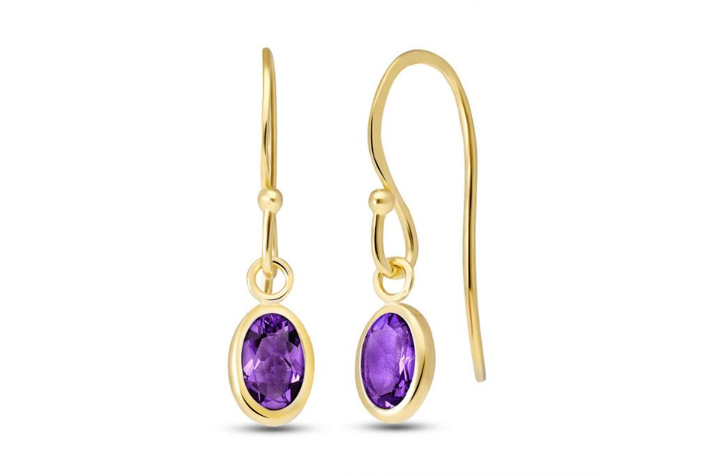 Amethyst Allure Drop Earrings 1 ctw in 9ct Gold