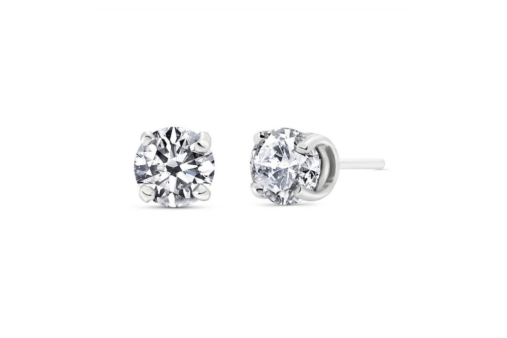 Diamond Stud Earrings 1 ctw in 9ct White Gold
