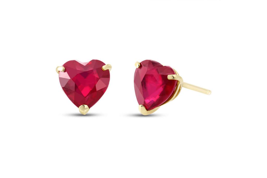 Ruby Stud Earrings 2.9 ctw in 9ct Gold