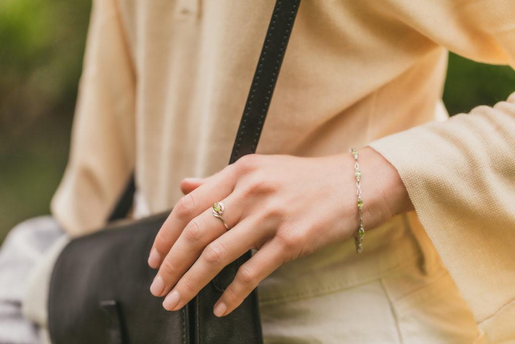 Peridot Tennis Bracelet by QP Jewellers