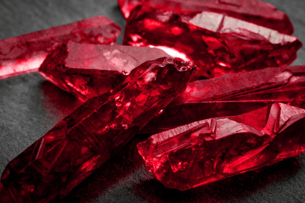 June Birthstone Ruby in Crystal Form