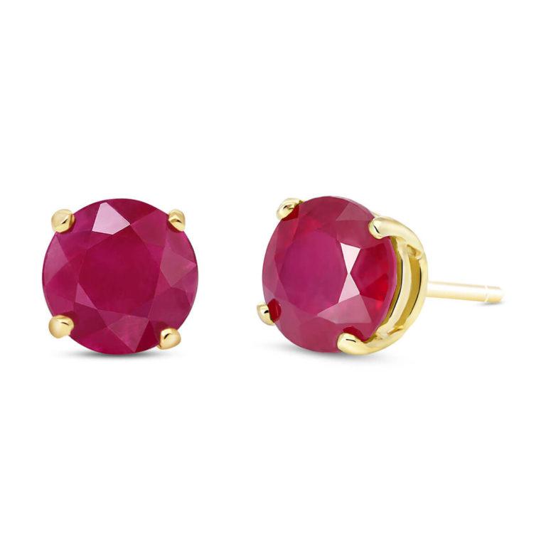 Ruby Stud Earrings 4.5 ctw in 9ct Gold